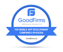 GoodFirms Accredited Iron Water Studio Amongst Top Mobile App Development Companies in Russia