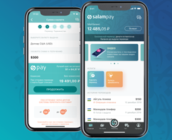 The first version of the SalamPay application